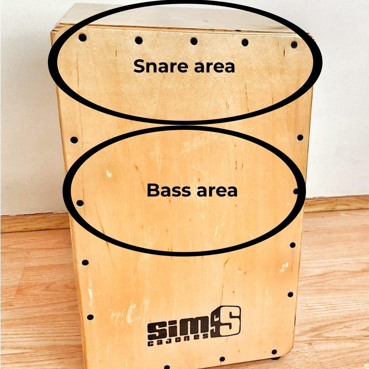 where to hit a cajon